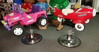 Barber chairs children airplane and power wheels girls and boys