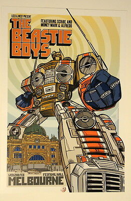 The Beastie Boys - Melbourne - Festival Hall - Rhys Cooper - 2005 Poster -