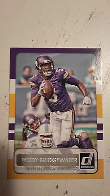 NFL Trading Card Teddy Bridgewater Minnesota Vikings Donruss 2015