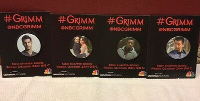 Grimm TV Series Collectible Pins - Comic Con 2014
