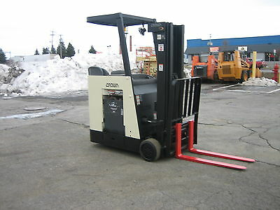"""2006 Crown  Dockstocker Forklift With 2014 Battery 3000# 190"""" Lift,side Shifter"""