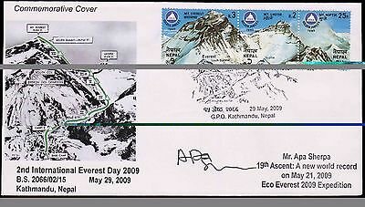 NEPAL 2nd EVEREST DAY SINGED EXPEDITION COVER