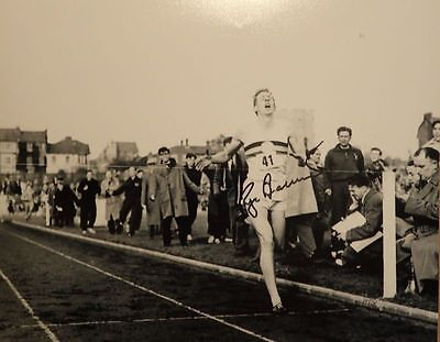 Roger Bannister 4 Minute Mile Signed Photograph.