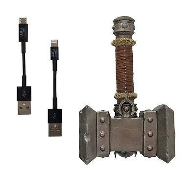 Genuine Warcraft Collection Doomhammer Figure Toy with Micro USB & Lighting Cord