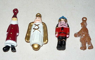 "Dept 56 Dickens Village ""retired Set 4"" Santa Angle Nutcracker Toy Attachments"