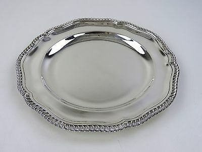 Excellent quality GARRARDS SILVER DINNER PLATE, London 1888 Round serving dish