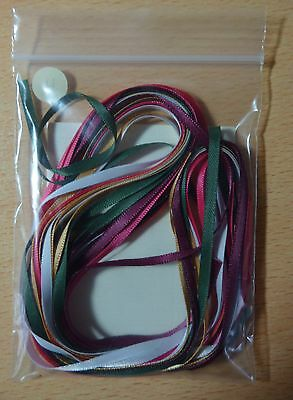 Craft (H) 3mm Wide Satin Ribbon Bag of Assorted / Mixed Colours