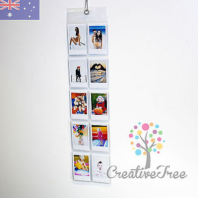 Wall Hanging Photo Album 10 pocket for Instax Mini 8 50s 70 90 and Polaroid 300