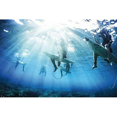 Surfers POSTER 61x91cm NEW Creative Photographic Surfing Ocean