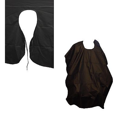New Black Salon Hair Cut Hairdressing Hairdresser Barbers Gown Adult Cloth Cape