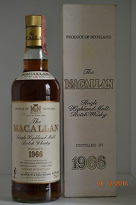 Single Malt Scotch Whisky MACALLAN 18 years old Vintage 1966 75cl with box