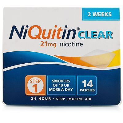 Niquitin Clear 21mg Step 1 14 Nicotine Patches 2 Weeks Supply **NEW**