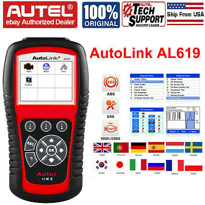 Autel AutoLink AL619 Engine ABS SRS Airbag OBD2 Code Reader Scan Diagnostic Tool