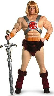 He-Man Classic Muscle Masters Of The Universe Men Costume XL
