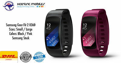 Samsung Gear Fit 2 R360 Smart Watch - Black Pink Small Large - Brand New SEALED