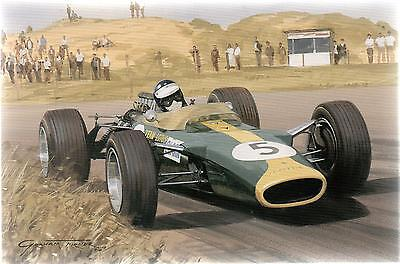 Jim Clark Lotus 1967 Grand Prix--Greetings Print Card--Graham Turner