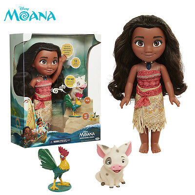 Disney Moana Singing Adventure Doll HeiHei Pua Action Figure Movie Song Toy Set