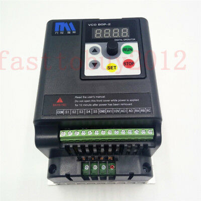 0.75KW 1HP 500Hz VFD Inverter 750w for 3 Phase Asynchronous Motor Speed Control