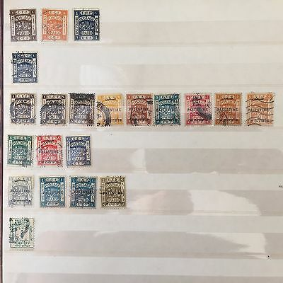 Israel Palestine Lot Of 21 Stamps