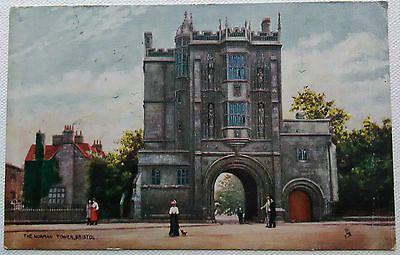 Two Antique Oilette Postcards Bristol by Raphael Tuck 1905 Cathedral Norman Arch