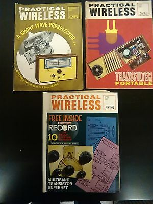 vintage retro PRACTICAL WIRELESS magazines x3 feb february april july 67 1967