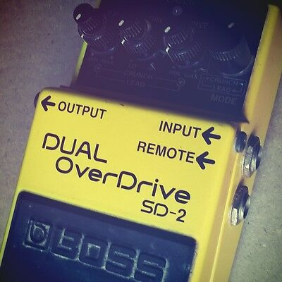 Dual Overdrive SD 2 BOSS Odl School Pedal RARE Vintage