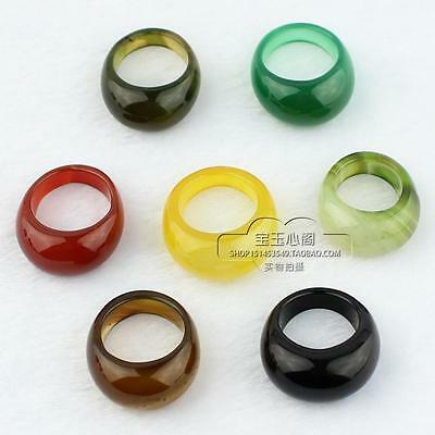 5 Colors wholesale Chinese Natural jade hand carved man ring