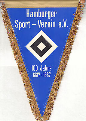Original Football Pennant Hsv Hamburger Sport- Verein 1987