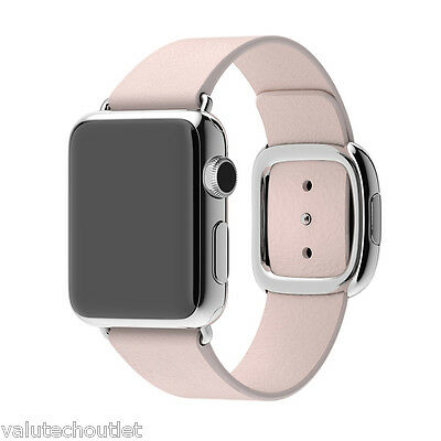 Genuine Apple Leather Buckle Strap Small Pink for 38mm Watch Case (MJ572ZM/A)