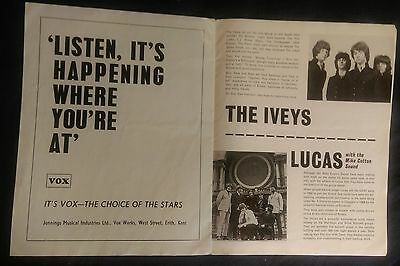 THE IVEYS [BADFINGER] TOUR PROG. FEB./MARCH 1969 with JOE COCKER, GENE PITNEY