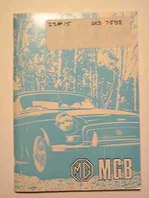 MGB Tourer and GT Handbook - 1976