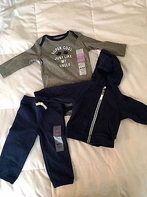 3 Piece Carters Baby Boy Outfit 9-12mo. Super Cute! NWT