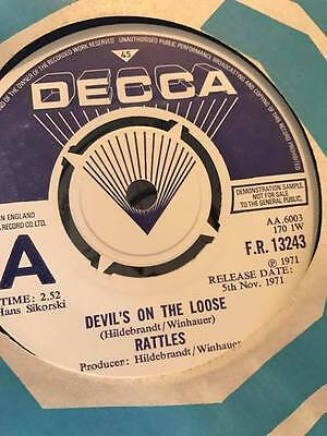 The Rattles Devils In The House Rare Beat Psych Demo 45