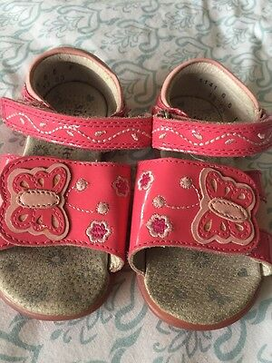 Girls Pink Start-rite Sandals Size 6f