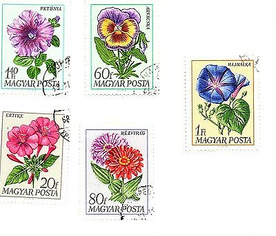 Hungary stamps 1968, Flowers. Five stamps