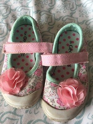 Girls Floral Shoes Size 5