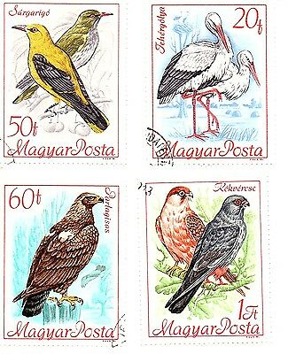Hungary stamps 1968, Birds. Four stamps