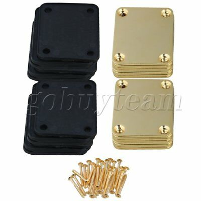 20 pcs Electric Guitar Neck Plate & Screws Golden Finish 64mm x 51mm