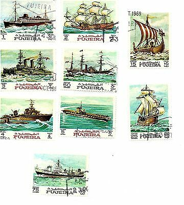 Fujiera stamps 1968, Maritime History. Eight stamps