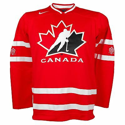 Men's NIKE Team Canada Red IIHF Hockey Premier Large Jersey - new with tags