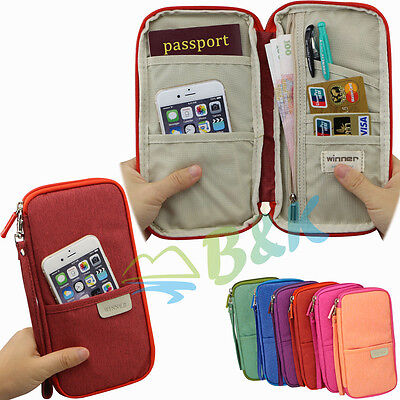 Travel ID Cards Passport Holder Case Cover Wallet Purse Organizer Handbag Gift