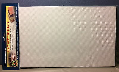 "JTT SCENERY 97450 DIAMOND PLATE 1:48 O SCALE (2) 7.5"" x 12"" SHEETS  JTT97450"