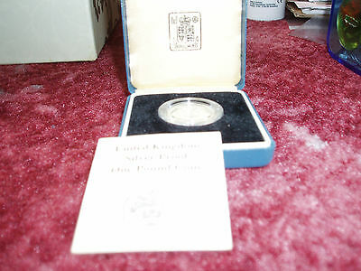Uk Silver Proof £1 Coin