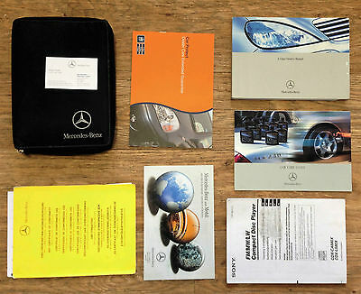 MERCEDES BENZ A Class OWNERS MANUAL HANDBOOK + SONY CDX GUIDE + CASE 2001-2004