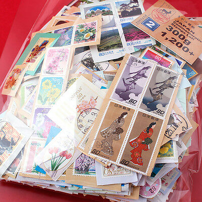 JAPAN Kiloware Commemorative On Paper Used Stamps 300g including 2014-2015 No.2
