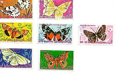 Equatorial Guinea stamps 1975. Butterflies. Seven stamps