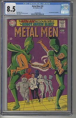 METAL MEN #32 CGC 8.5 OWW Pages DC Silver Age