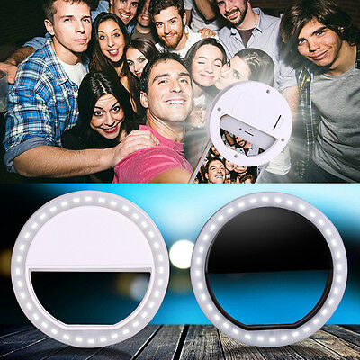Portable LED Ring Fill Light Camera Photography for iPhone Samsung Android Phone