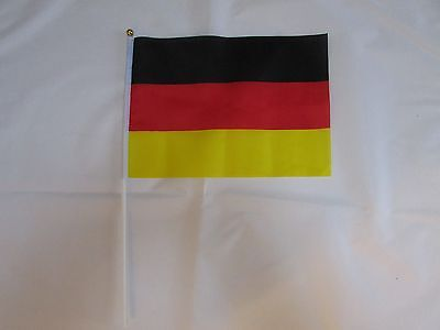 "12/25/50/100 X Germany / German 24"" Large Hand Flags"
