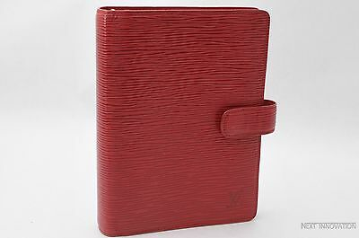 Authentic Louis Vuitton Epi Agenda MM Day Planner Cover Red LV 23999